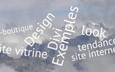 Des exemples de design pour votre site internet