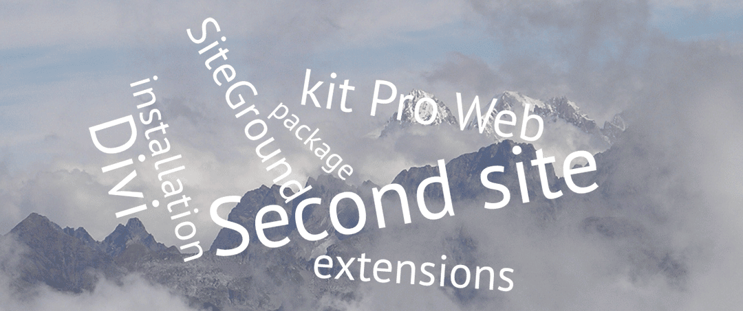Installez un deuxième site chez SiteGround