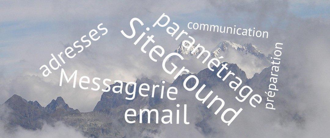 Créez vos adresses de messagerie chez SiteGround