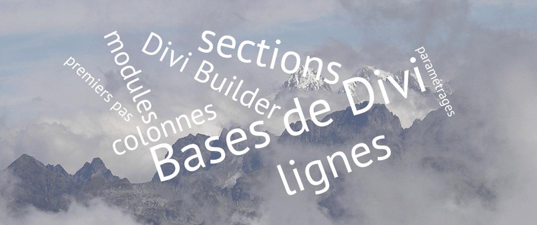 Les bases de Divi : sections, lignes, colonnes et modules